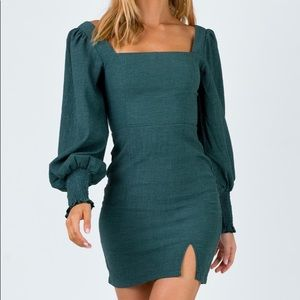 Green Tegan Mini Dress